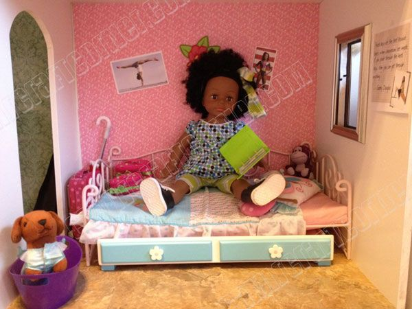 bedroom 2 american girl dollhouse diy for 150 18 doll room