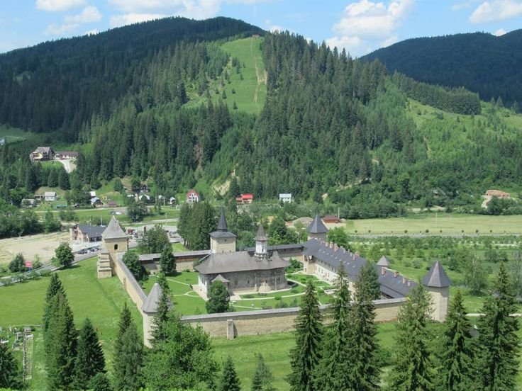 Sucevita Monastery (1586), the largest painted monastery in Bukovina, Romania, is surrounded by walls built to defend against Turkish invaders.