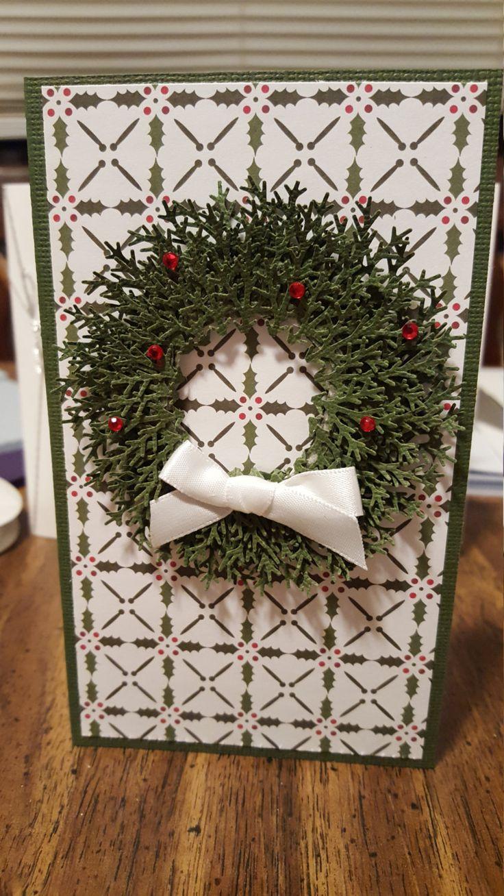 Christmas Wreath Card by SimoneSaysCardShop on Etsy