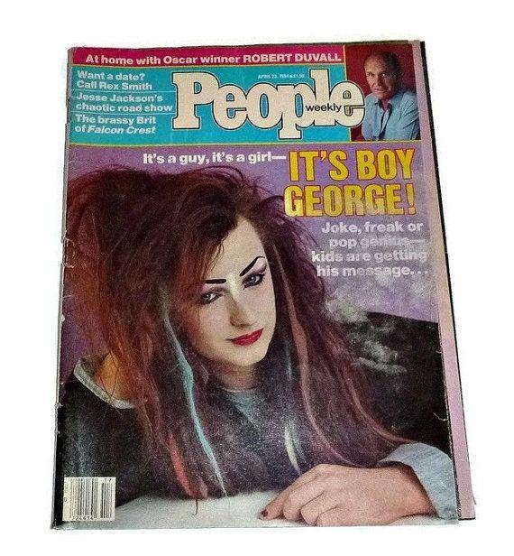 1984 People Mag BOY GEORGE Culture Club by PopcornVintageByTann