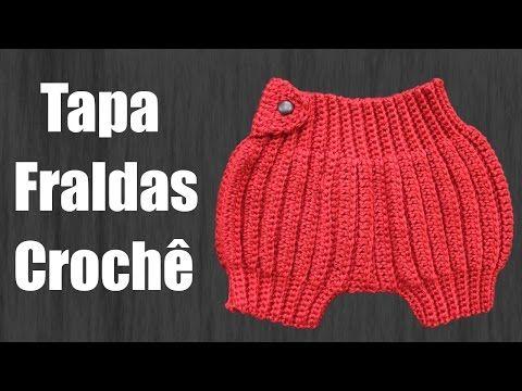Tapa Fraldas Newborn Crochê - YouTube