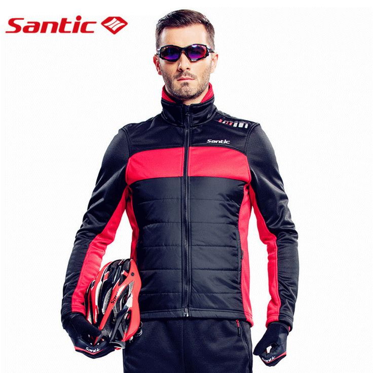 Santic Cycling Winter Jacket Long Sleeve Fleece Men chaleco ciclismo windproof  Cheap Cycling Jersey Thermal Fleece M5C01059R/V #clothing,#shoes,#jewelry,#women,#men,#hats,#watches,#belts,#fashion,#style