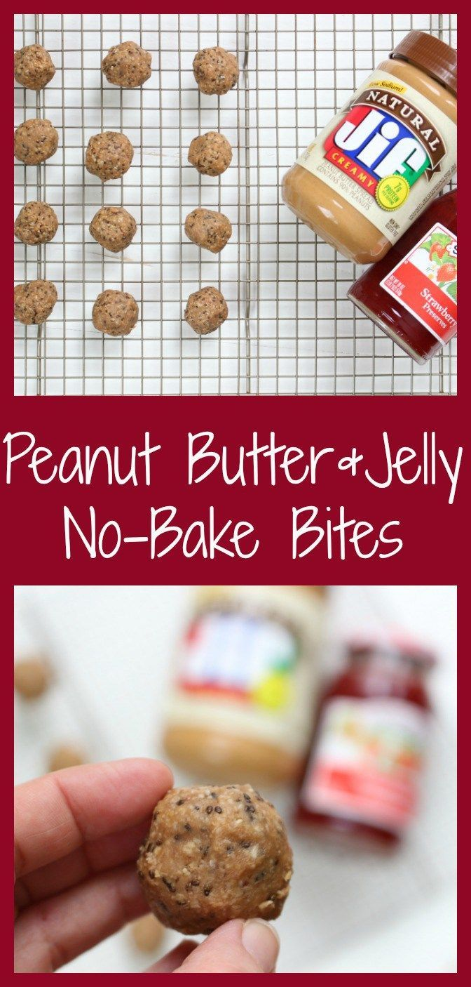 PB & J Bites make a great grab-and-go snack to have on hand or stock your freezer with. Filled with the flavors of the traditional lunchtime sandwich but in a snack, bite-size! @MomNutrition