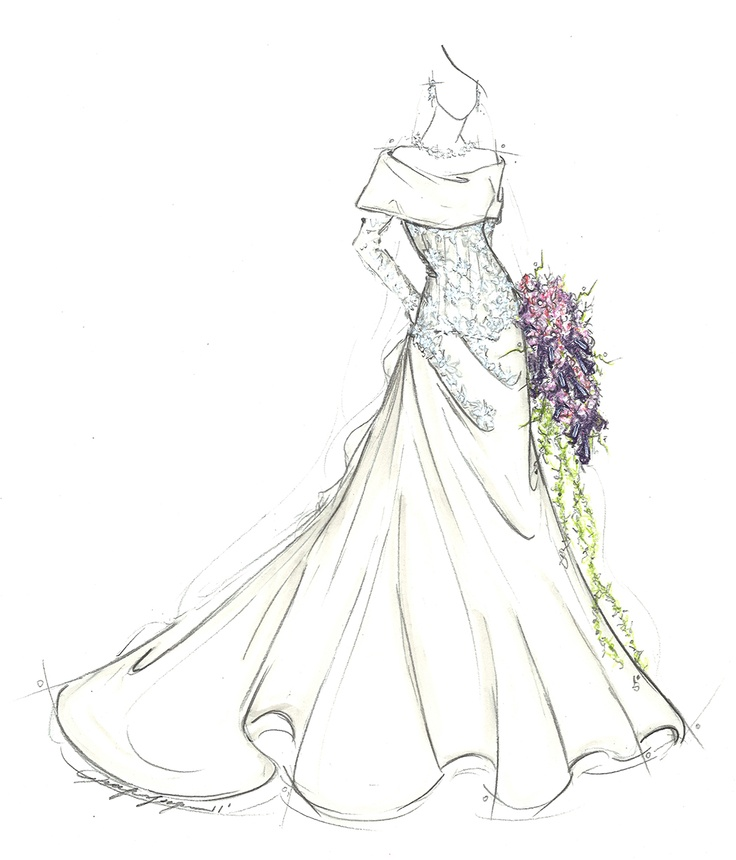 Sketches Of Wedding Gowns: 39 Best Bridal Gown Sketches Images On Pinterest