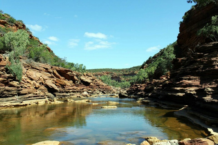 Murchison River at Kalbarri National Park Western Australia