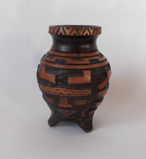 Handgesneden houten vaas van MrsMajestaVintage op Etsy