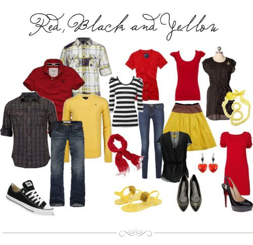 Wonder what to wear for family pics?? This photography website has a couple color boards to help!