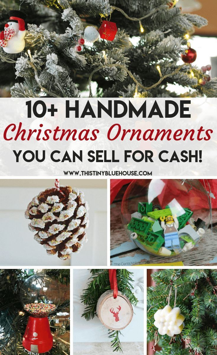 18 Best Easy Diy Christmas Ornaments To Make And Sell As A Side Hustle Diy Christmas Ornaments Christmas Ornaments To Make Christmas Diy