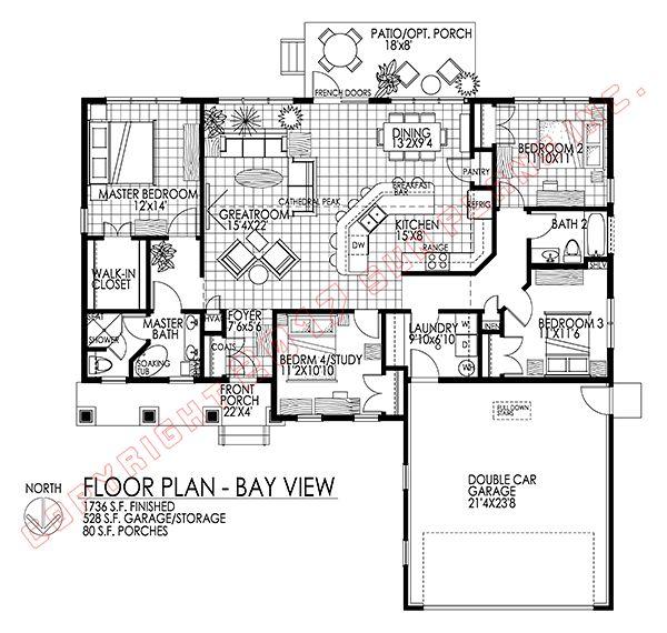 Bay View Passive Solar House Plan Passive Solar House Plans Solar House Plans Passive Solar Homes