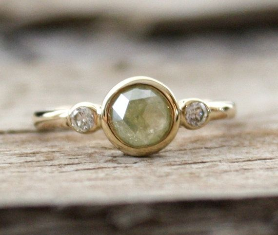 A greenish-grey diamond, just right for moody fall days.
