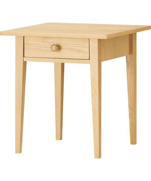 ホワイトオーク材の北欧風フリーテーブル(オーランド45)   ニトリ公式 ...