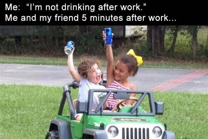 Not Drinking After Work Funny Friday Memes Funny Meme Pictures