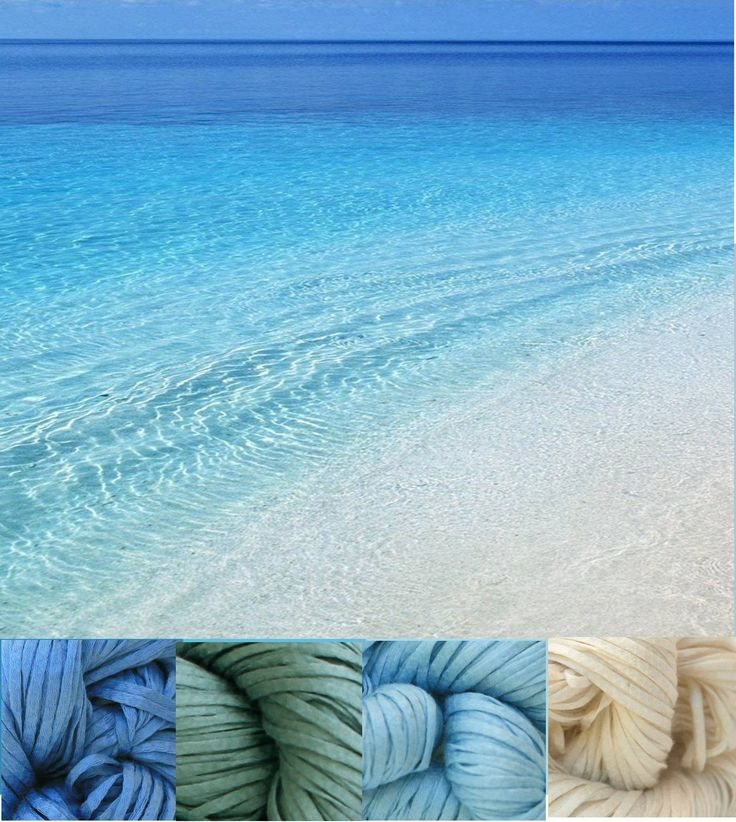 Beaches, color palette with Lucci Cotton Tape Yarn
