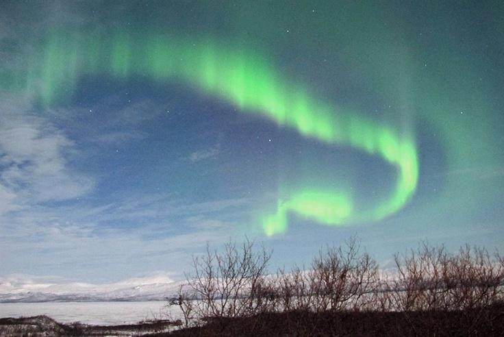 Watch the snake! - Northern Lights (Aurora Borealis)