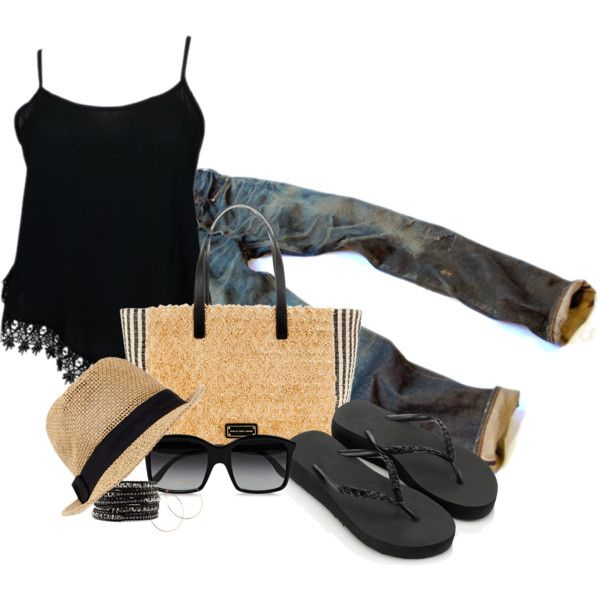 A fashion look from June 2014 featuring Accessorize flip flops, MARC BY MARC JACOBS tote bags and 2b bebe hats. Browse and shop related looks.
