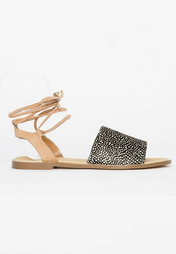 Hael and Jax - Moss Sandals In Speckle Pony