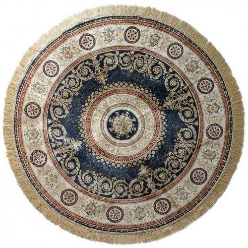 http://www.carillobiancheria.it/tappeto-classico-zrabi-rotondo-effetto-seta-160x160-blu-navy-m901.html  #carillopin