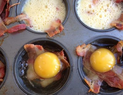 Muffin Tin Eggs Recipe | Camping Recipes, Campfire Cooking, Breakfast, Bacon, Eggs, Peppers, Onion, Hashbrowns, Muffin Tins