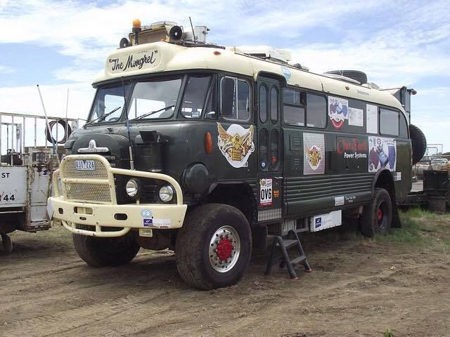 Bedford 1960's 4x4 bus conversion, like the front end