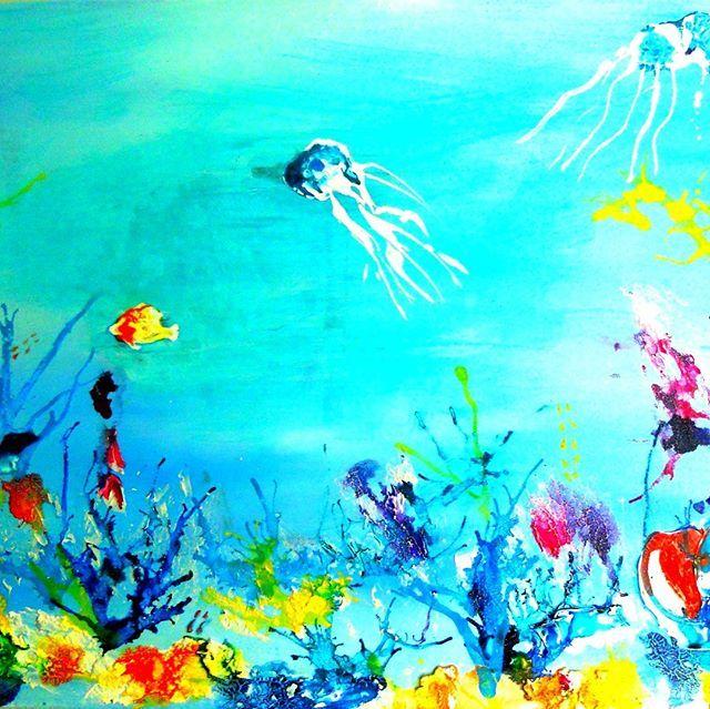 underwater painting easy - 640×639