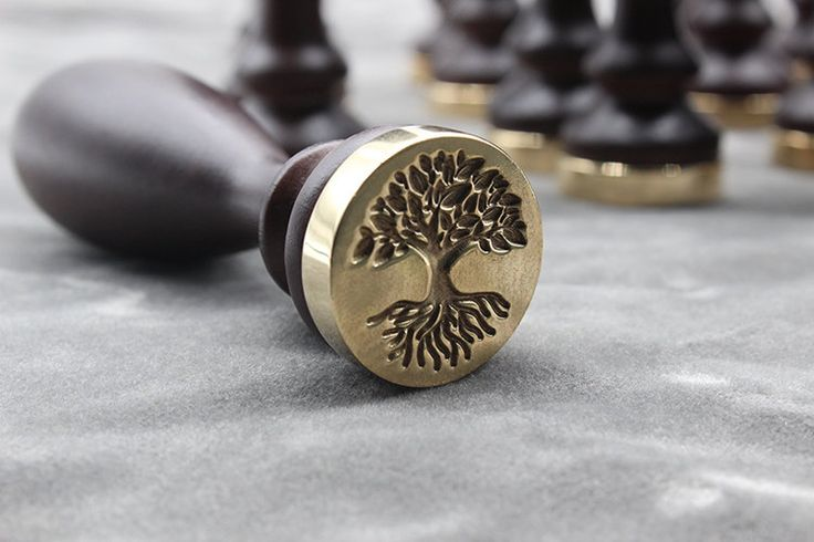 sealing wax stamp-deep rooted tree by JagerGreenShop on Etsy