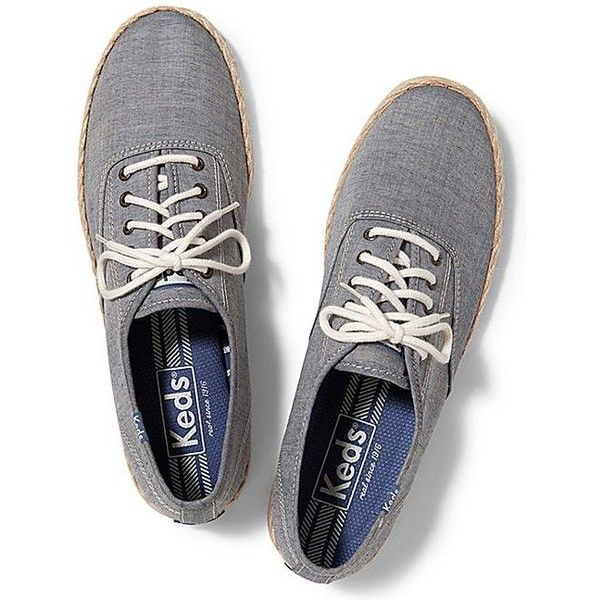 Keds Men's Champion Jute (2.660 RUB) ❤ liked on Polyvore featuring men's fashion, men's shoes, men's sneakers and blue chambray
