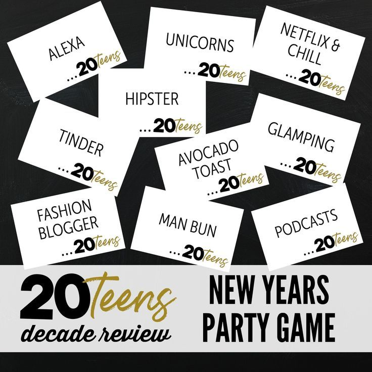 Printable Decade in Review Holiday Party Game 2020 New