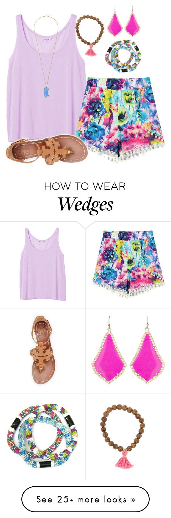 """the last of summer"" by carolina-prepster on Polyvore featuring Monki, Tory Burch and Kendra Scott"