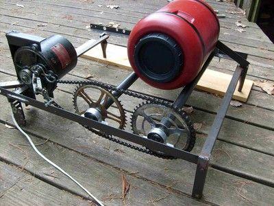 17 best images about diy sandblaster tumbler equip on for Diy rock tumbler motor