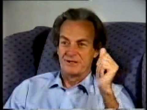 Physicist Richard Feynman thinks more about the 'jiggling' of atoms, and about rubber bands and how they 'work'.