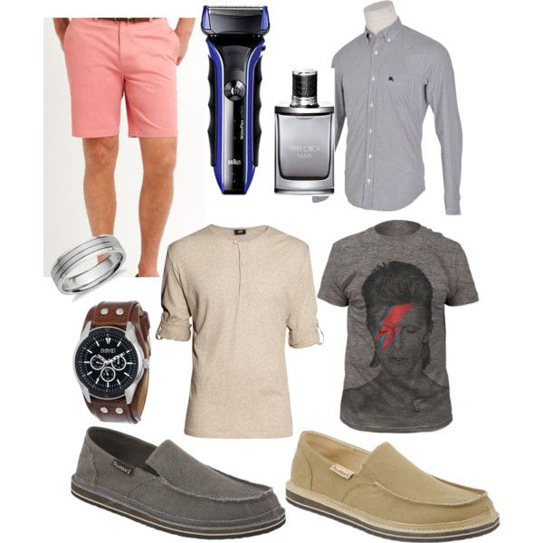 Springtime for Men 2015! by bearpawstyle on Polyvore featuring Burberry, H&M, Blue Nile, August Steiner, Jimmy Choo, Braun, Brooks and bearpaw