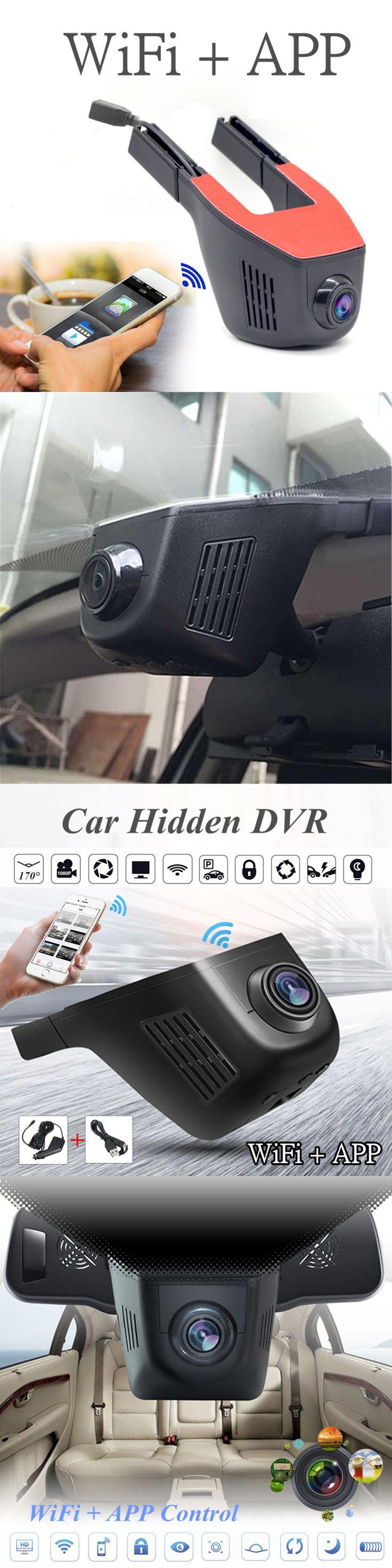Digital video recorders cards 170 wide angle 1080p car wifi hidden camera dvr