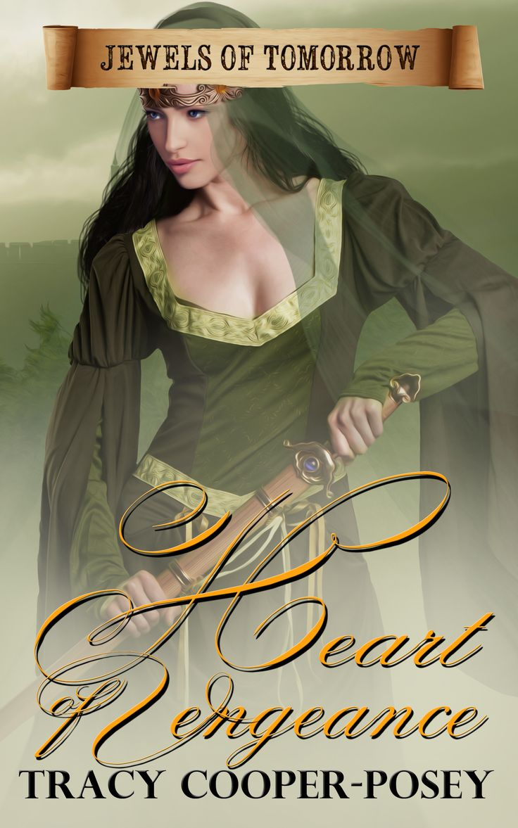 Heart of Vengeance.  Part of the Jewels of Tomorrow series. Historical Romantic Suspense. Fourth edition cover. http://tracycooperposey.com/books/heart-of-vengeance/
