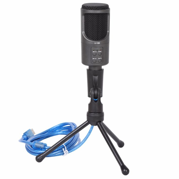 Professional Sound USB Condenser Microphone PC Microphone Studio Chatting Audio Recording Microphone Mic with Stand #245765  #Affiliate