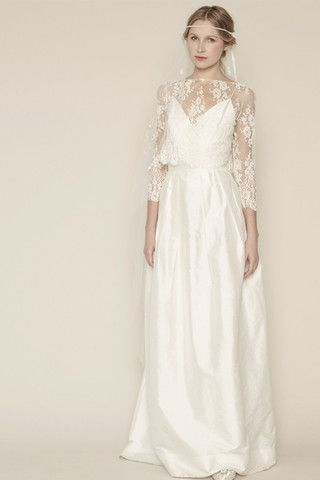 This is so beautiful - its actually a separate plain dress with lace blouse - stunning!