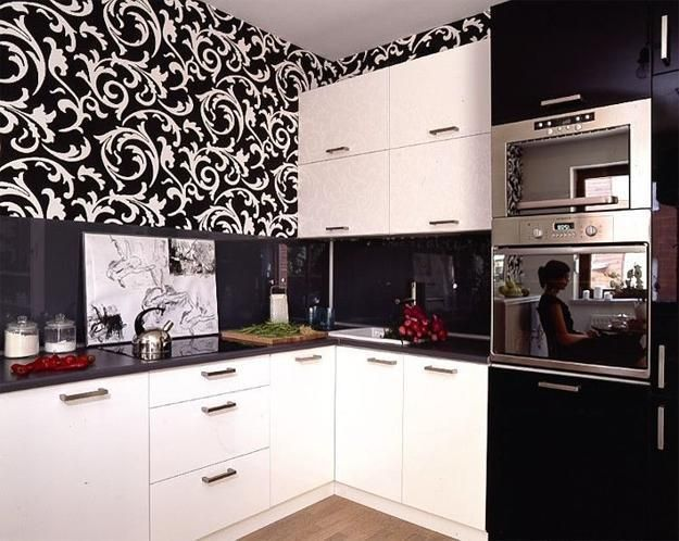 black and white kitchen wallpaper \u2013 SACALINK