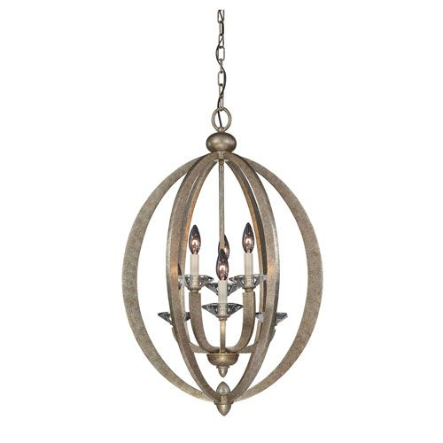 Forum Gold Dust Six-Light Foyer Pendant