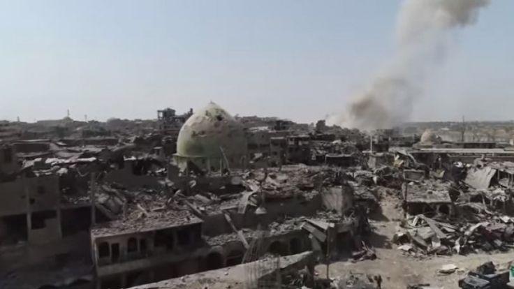 Τα ερείπια και τα χαλάσματα της Μοσούλης από την κάμερα του Drone (Bίντεο)