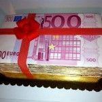 Torty urodzinowe - pieniądze też są do jedzenia tort dla milionera