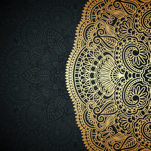 Lace decorative pattern vector background 03