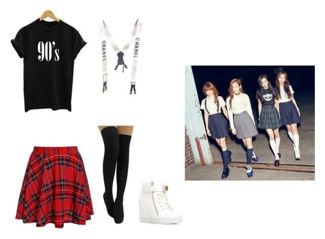 U0026quot;BLACKPINK Boombayah Inspired Outfitu0026quot; by cyberd0ll liked on Polyvore featuring Chanel | Polyvore ...