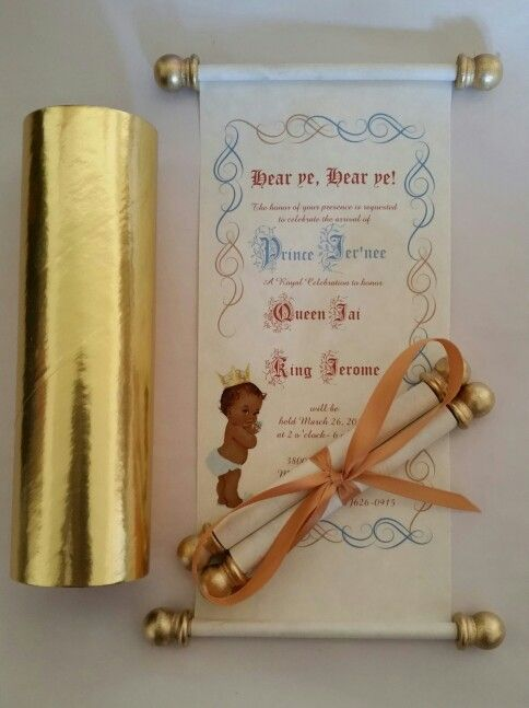Pinterest 50 paper width baby shower scroll invitations comes rolled tied with gold ribbon filmwisefo