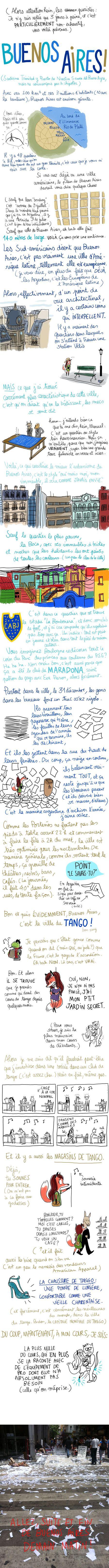 Quando a ilustradora francesa Penélope Bagieu chegou a Buenos Aires foi assim... (parte 1)