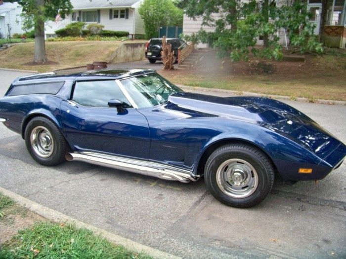 1973 Chevrolet Corvette sports wagon...right up there with the Ferrari wagon...NO!