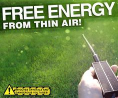 """""""Free energy from the air?, Yea, right!"""" Sardonic skepticism was my first reaction to this unusual concept, as well.Though, its not so far out there, in fact. Light can be converted to DC current with solar panels, electricity can be converted to magnetism as I did in my last article, in a microphone sound waves are converted to an electrical signal (by vibrating a magnet near a coil), solar rays can even be focused and converted to heat in awesome devices like this! When we think a..."""