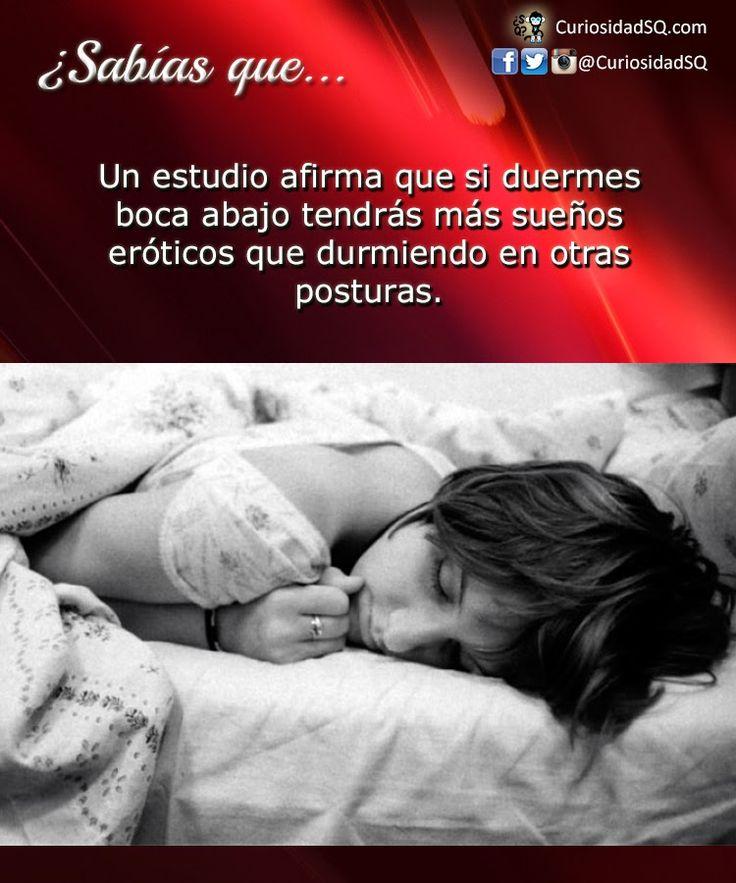 ¿Sabías Que? hay un estudio que si duermes boca abajo tendras mas sueños eróticos que durmiendo en otras posturas