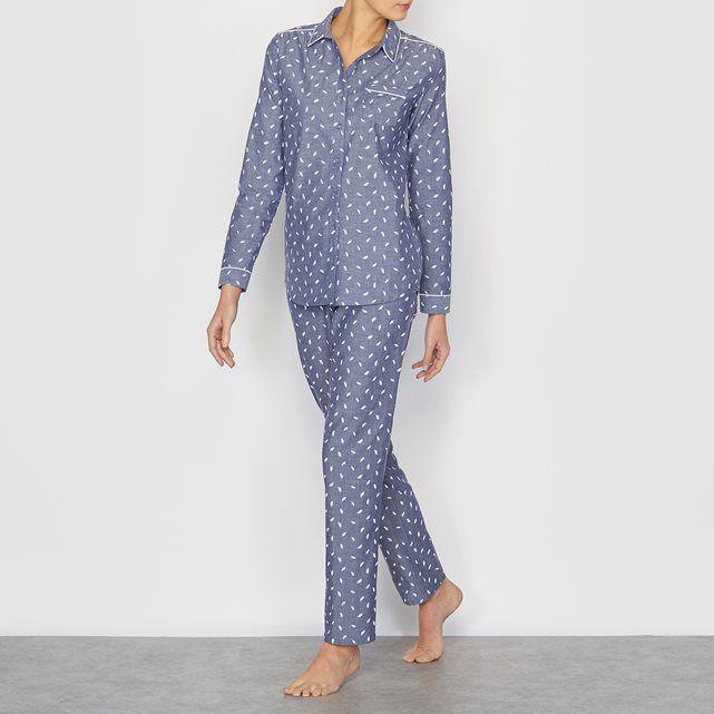 Pyjama coton chambray