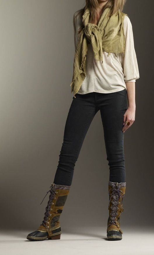 Sorel Boot Style Cold Weather Outfits Pinterest