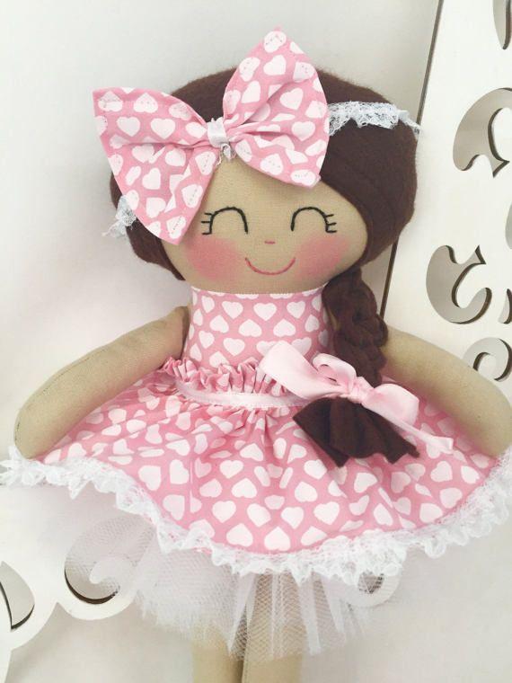 Muñeca de trapo muñecas hechas a mano muñecas de tela