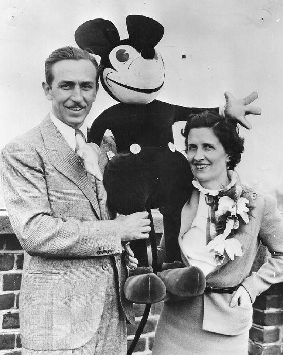 Walt and Lillian Disney 1935